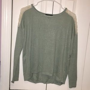Sage colored long sleeve top